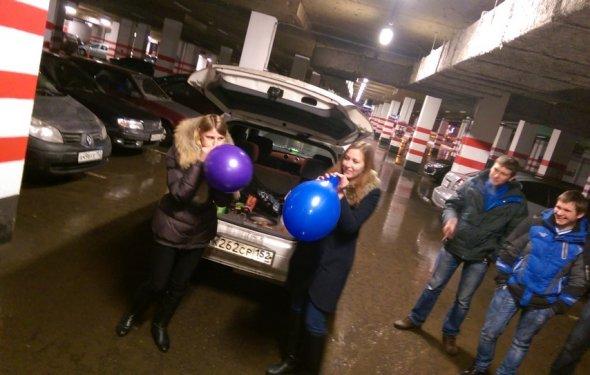 Конкурсы для взрослых с шарами смешные